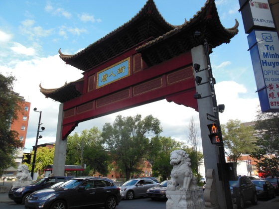 Pórtico no Quartier Chinois