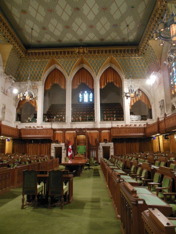 Interior do parlamento canadense