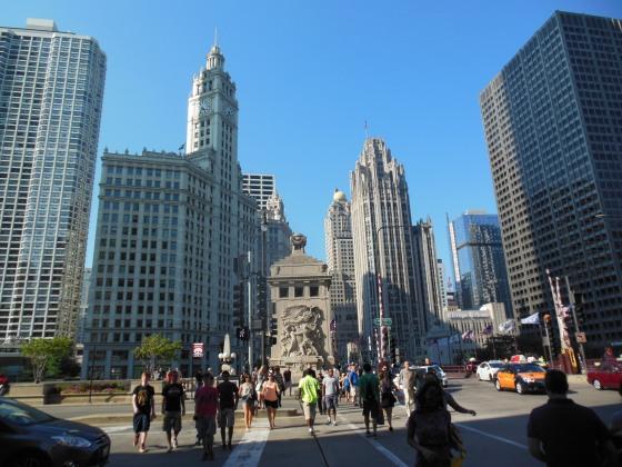 A beleza dos prédios de Chicago