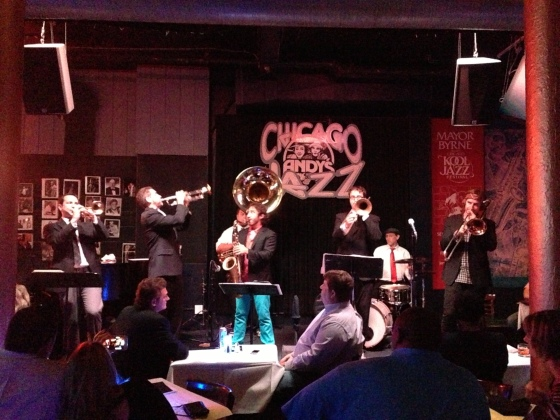 Showzinho animado no Andy's Jazz Club