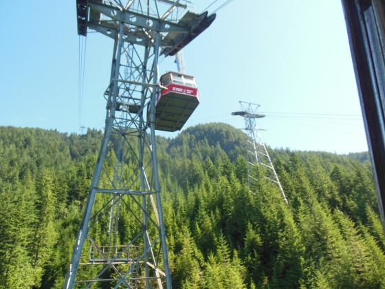 Subindo a Grouse Mountain