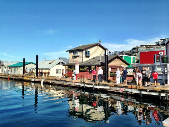 Fisherman's Wharf e as casas sob as águas