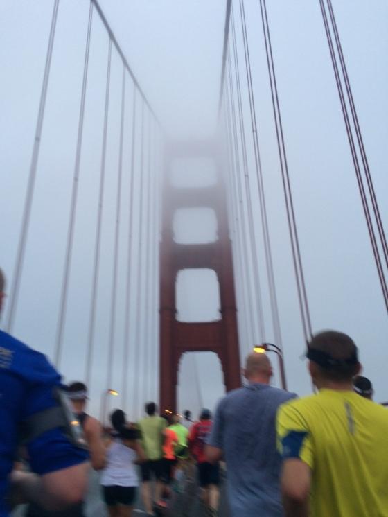 Atravessando a Golden gate Bridge! Momento mais especial da prova...
